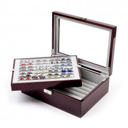 Cufflinks Storage Box Large Mahogany (72 pair capacity)