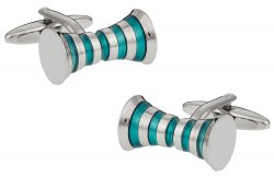 Aqua Blue Rollers Cufflinks