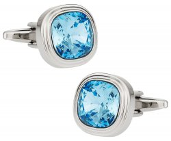 Aquamarine Blue Crystal Cufflinks