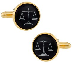 Attorney Cufflinks in Black Gold