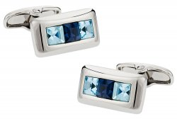 Austrian Crystal Cufflinks in Blue