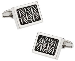 Urban Herringbone 2 Cufflinks