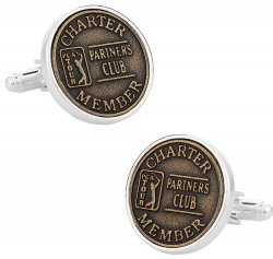 Ball Mark Golfer Cufflinks