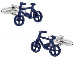 Preppy Cyclist Bicycle Cufflinks in Blue