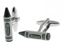 Black Crayon Cufflinks