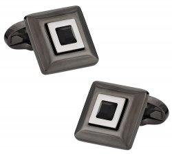 Black Crystal Hematite Cufflinks