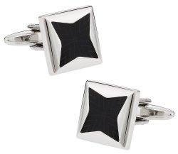 Black Starburst Cufflinks