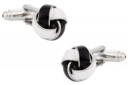 Black & White Knot Cufflinks