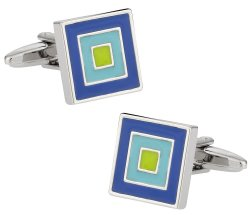 Blue Aqua Square Cufflinks