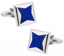 Blue Starburst Cufflinks