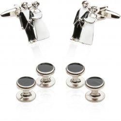 Bride & Groom Cufflinks and Studs