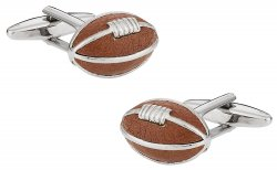 Brown Football Cufflinks