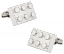 Building Block Silver Cufflinks