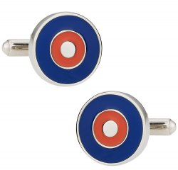 Bullseye Cuffs in Red & Blue