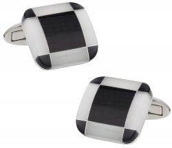 Butler Black White Cufflinks