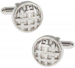Button Cufflinks of Silver