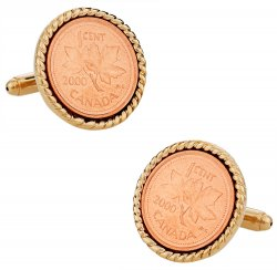Canadian Maple Leaf Coin Cufflinks