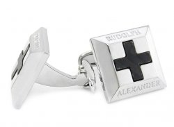 Carbon Fiber Cross RA Cufflinks