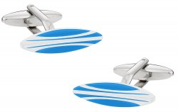 Surfboard Cuffinks in Blue & White