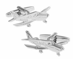 Cessna Airplane Pilot Cufflinks