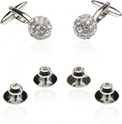 Men's Crystal Ball Cufflinks Studs