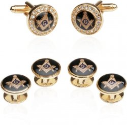 Crystal Gold Masonic Formal Set for Freemasons