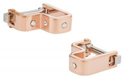 Crystal Step Rose Gold Cufflinks