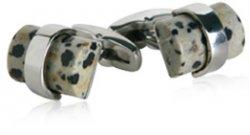 Dalmation Jasper Stone Cufflinks