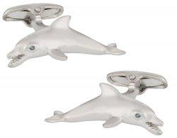 Dolphin Cufflinks in Silver