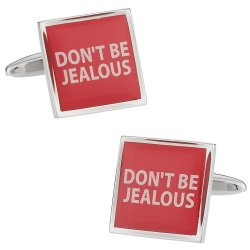 Funny Cufflinks - Don't Be Jealous Cufflinks