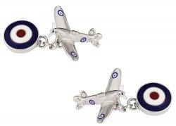 Double Sided Spitfire Cufflinks