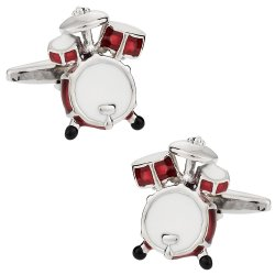 Drum Kit Cufflinks - Gift Idea for a Drummer