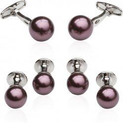 Eggplant Swarovski Pearl Formal Set