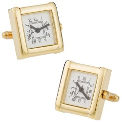 Working Gold Watch Cufflinks