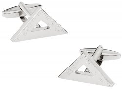 Engineering Triangle Ruler Cufflinks