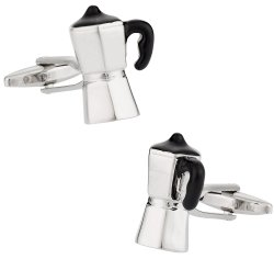 Espresso Coffee Maker Barista Cufflinks