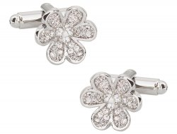 Womens Flower Cufflinks