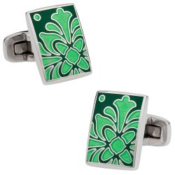 Foliage Green Cufflinks