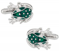 Frog Cufflinks in Green