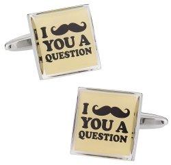 Funny Movember Moustache Mustache Cufflinks