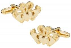 Gold Claddagh Cufflinks - Irish Love