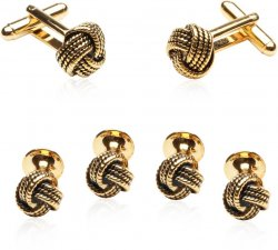 Gold Knot Formal Set of Cufflinks Studs