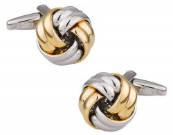 Classic Men's Two Tone Gold & Silver Knot Cufflinks
