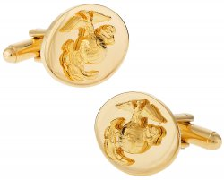 Gold USMC Marine Corp Eagle, Globe & Anchor Officer Cufflinks