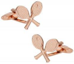 Rose Gold Tone Tennis Cufflinks