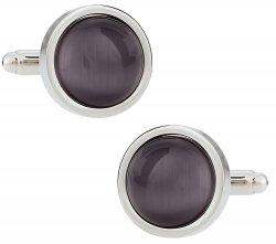 Gray Round Cufflinks