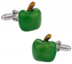 Teacher Gift - Green Apple Cufflinks