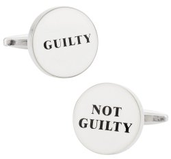 Guilty / Not Guilty Cufflinks - Gift for Judges & Lawyers