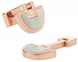 Half Moons Rose Gold Mother of Pearl