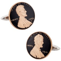 Hand Painted Penny Cufflinks Abraham Lincoln